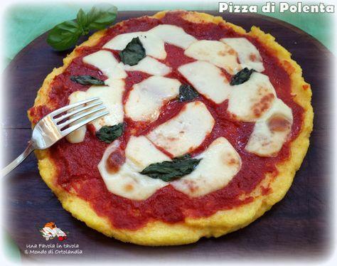 Una pizza diversa: fatta con la farina gialla, pomodoro e provala senza lattosio! Una Pizza di Polenta!!!