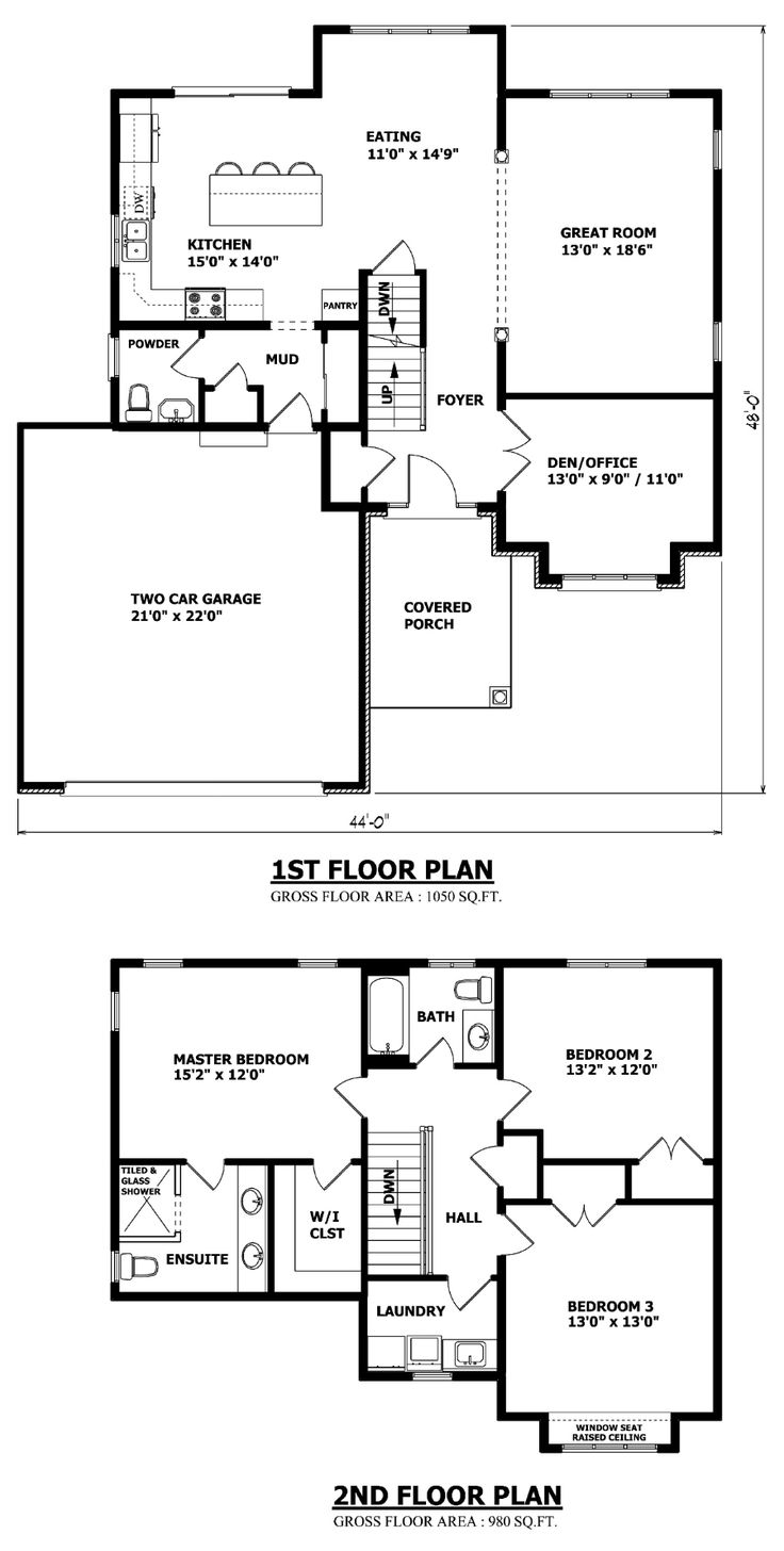 Brampton two storey house plan