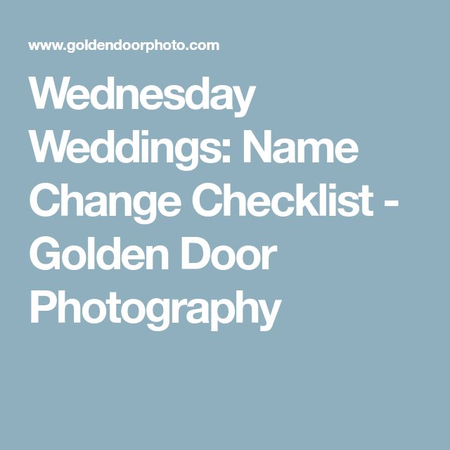 Best  Name Change Checklist Ideas On   Marriage Name