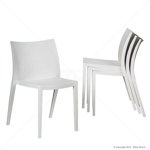 Set of 4 - Rio Cafe Chair - White