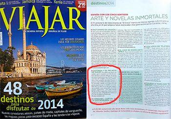 El Palacio de Gaudí de Astorga aparece en la revista VIAJAR