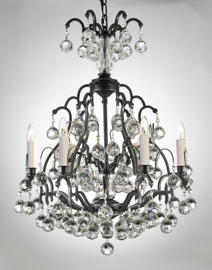 17 Best images about Chandelier Lights – Wrought Iron Chandeliers with Crystal