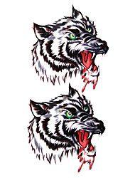 5 stuks wolf waterproof tijdelijke tatoeage (17,5 cm * 10cm)