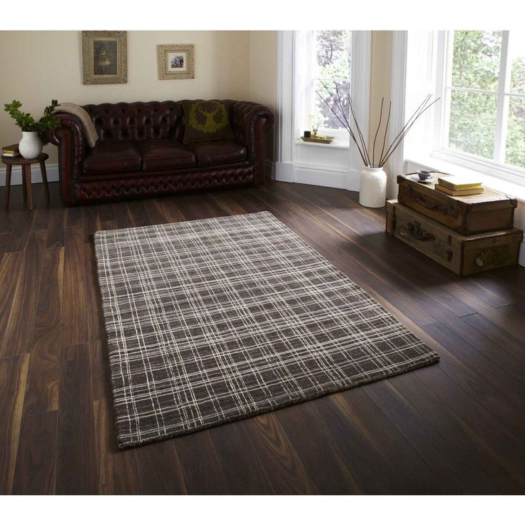 Cambridge CAM-30 Natural Wool Rug By Think Rugs An absolutely stunning rug, the Cambridge CAM-30 Natural Wool Rug By Think Rugs comes with a striking check pattern, hand loomed using the highest quality New Zealand and Argentinian wool blend.  #woolrugs #luxuryrugs #luxurywoolrugs #handmaderugs #chequeredrugs #modernrugs