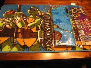 Tmnt Bath Rugs Age Mutant Ninja Turtles 14 Piece
