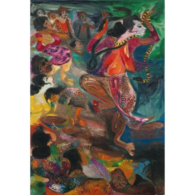 Hendra Gunawan. Snake Dancer  color  swirl