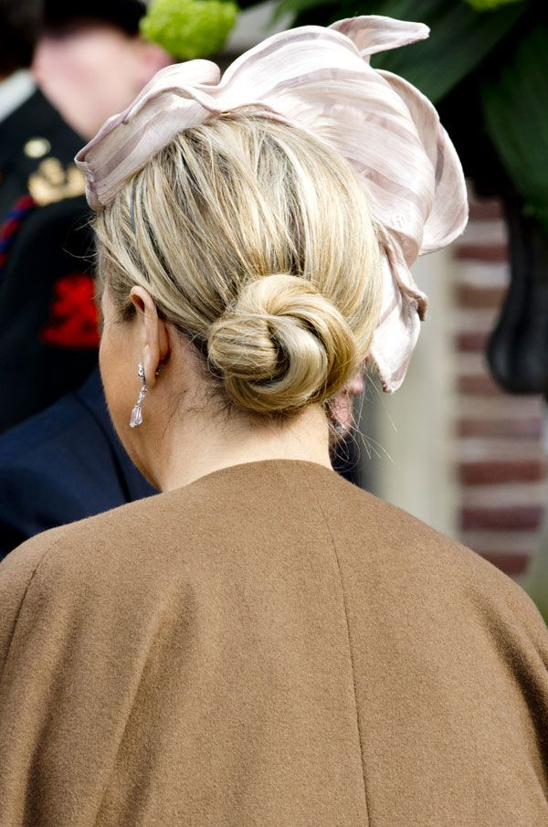Queen Maxima of the Netherlands (hat and hair) March 2014