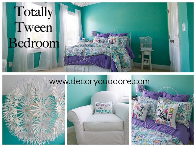 Decor You Adore: Tween Room fit for a queen!#tween room #girls room #pottery barn teen