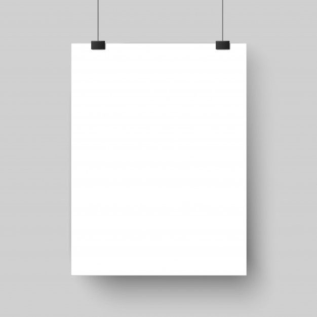 Blank White Poster Template Affiche Paper Sheet Hanging On Wall Mockup Hanging Posters Graphic Design Mockup Balloon Frame
