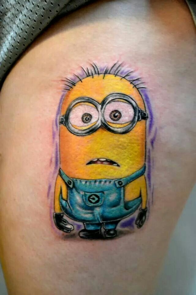 Minion tattoo by jeremiah klein at iron lotus tattoo cedar for Iron lotus tattoo
