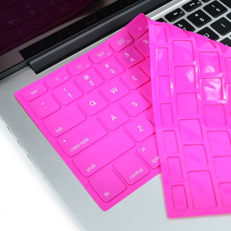 Solid HOT PINK Silicone Keyboard Cover for Macbook Pro 13 15 17
