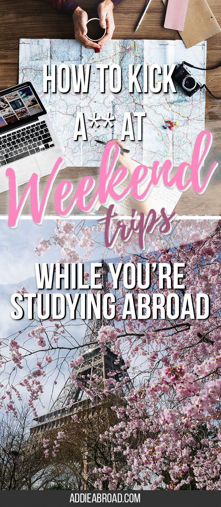 Taking weekend trip is one of the best parts of studying abroad in Europe. You can travel all over Europe on a budget this way. Here's the ultimate guide to taking weekend trips in Europe during study abroad! via @addieabroad