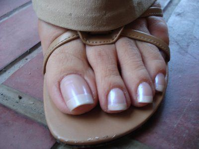 Long french tip toenails design for summer 2015 : Long Toenail With Frenchtip