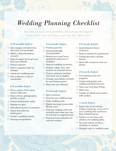 26 best wedding planning timelines images on Pinterest | Wedding ...