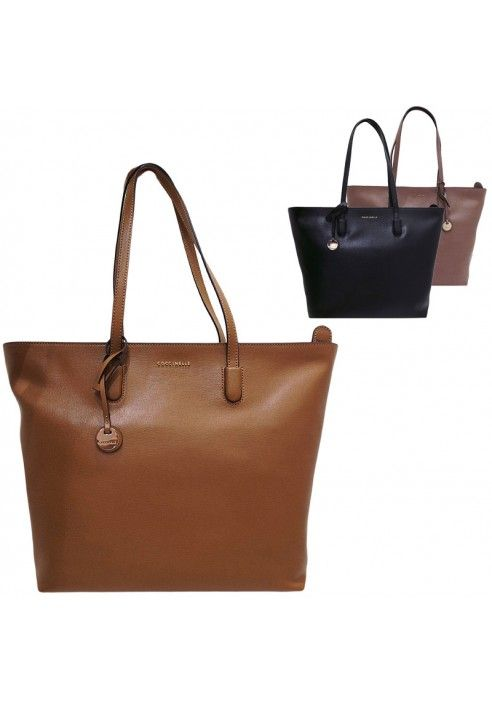 Coccinelle Shopping bag linie Clementinen in saffiano
