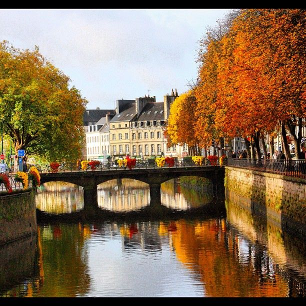 The passerelles, one of the charms  of  Quimper - Brittany