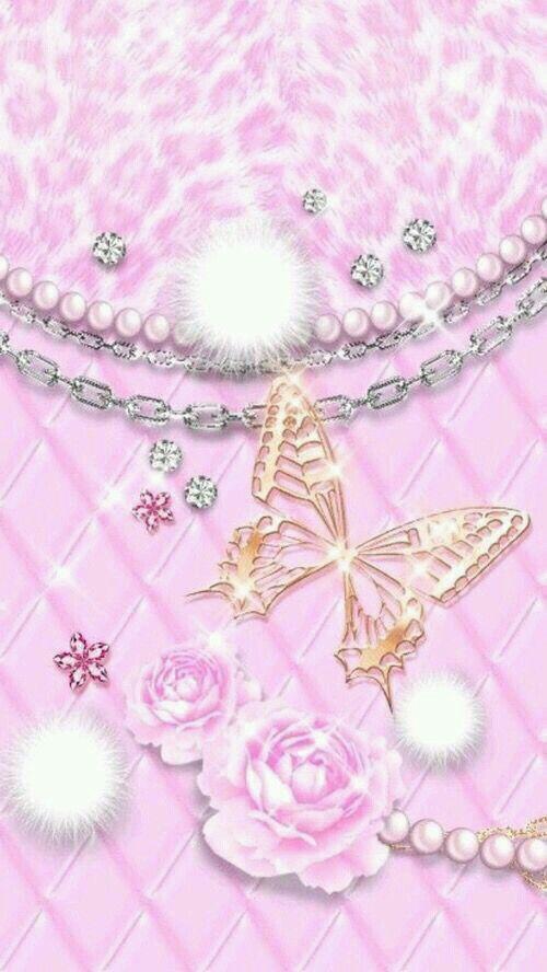 Wallpaper Paris Pink Cute Wallpaper Pretty Wallpapers Bling Wallpaper Diamond