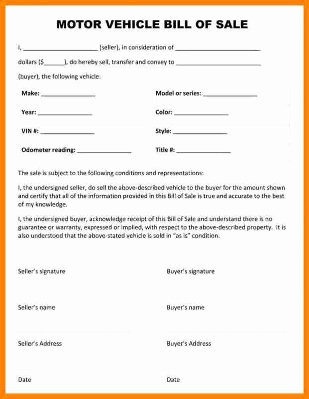 Car Bill Of Sale Form Inspirational Car Bill Sale Pdf Free Handwriting Worksheets Free Handwriting Job Application Template