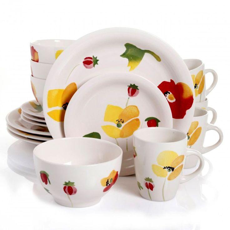 china gibson home haleyville 16piece stoneware dinnerware set gibson home haleyville 16 piece