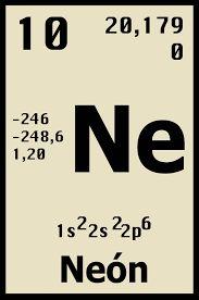 Resultado de imagen para el neon tabla periodica