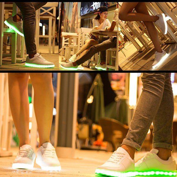 Кроссовки со светодиодной подсветкой ! Мода!