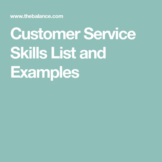 Customer Service Skills List and Examples