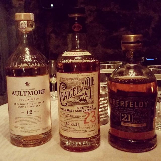 Aultmore 12yo was brilliant. Craigellachie 13yo excellent, 17yo not as good but…