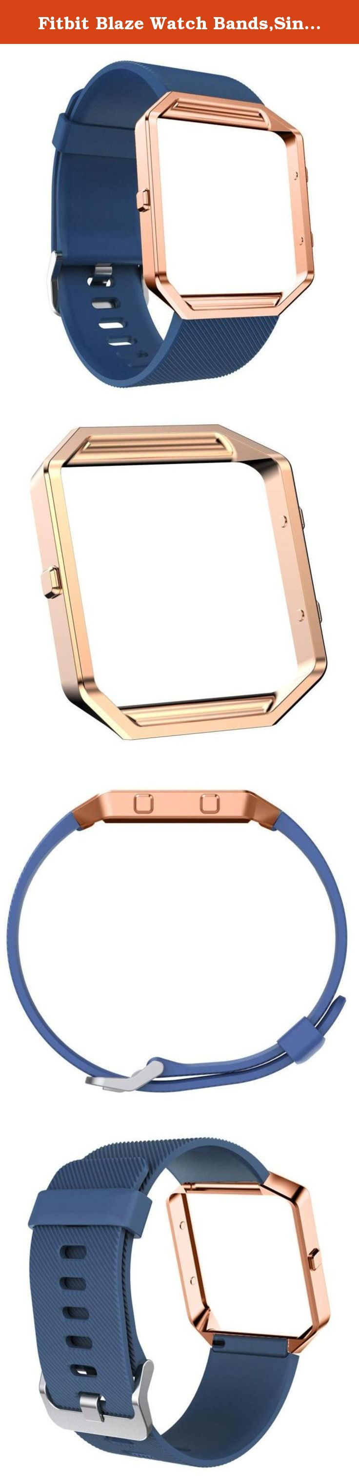 Fitbit Blaze Watch Bands,Siniao Soft Silicone Watch Band Wrist strap+Metal Frame+HD Film For Fitbit Blaze Watch (A). ☛:Package Include: ☛: 1pc Wristband(without retail package)+ 1pc Rose Gold Metal frame +HD Film Protective(Completely fit Watches).