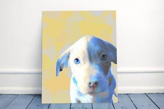 Dog Portrait Print Dog Art Print CHARITY by MelaCustomPortraits