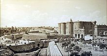 The Bastille of Paris before the Revolution.