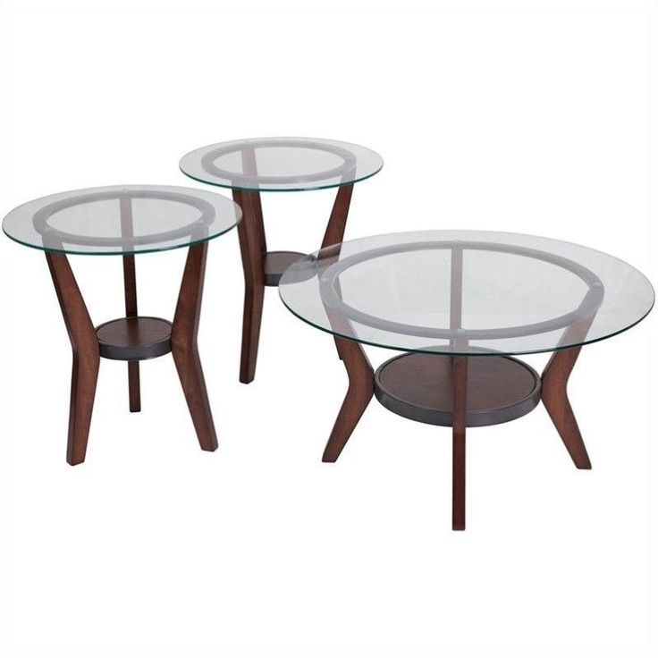 Lowest price online on all Signature Design by Ashley Furniture Fantell 3 Piece Occasional Table Set in Dark Brown - t210-13