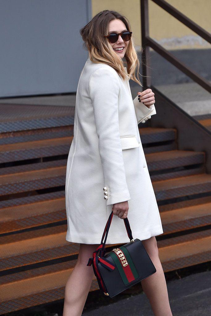 Elizabeth Olsen's Dress at the Gucci Fall 2016 Show | POPSUGAR Fashion