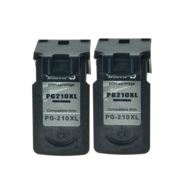 2PK PG 210XL 210 XL Black Ink For Canon PIXMA MX330 MX340 MX410 MX420