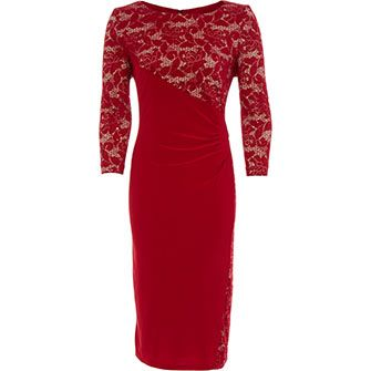 Crimson & Nuce Lace Sheath Dress