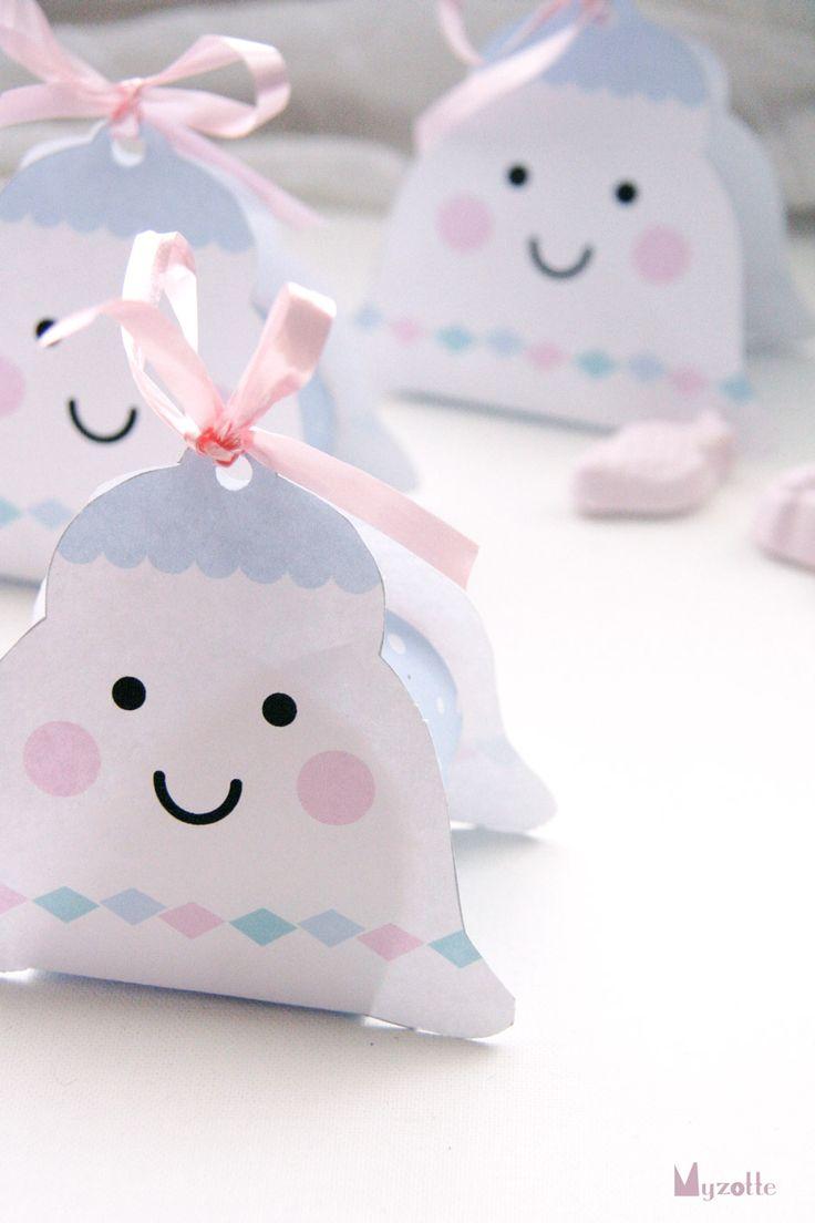 Ballotins à garnir de confiseries en forme de cloche — pour Pâques. Bells for Easter —Free printable
