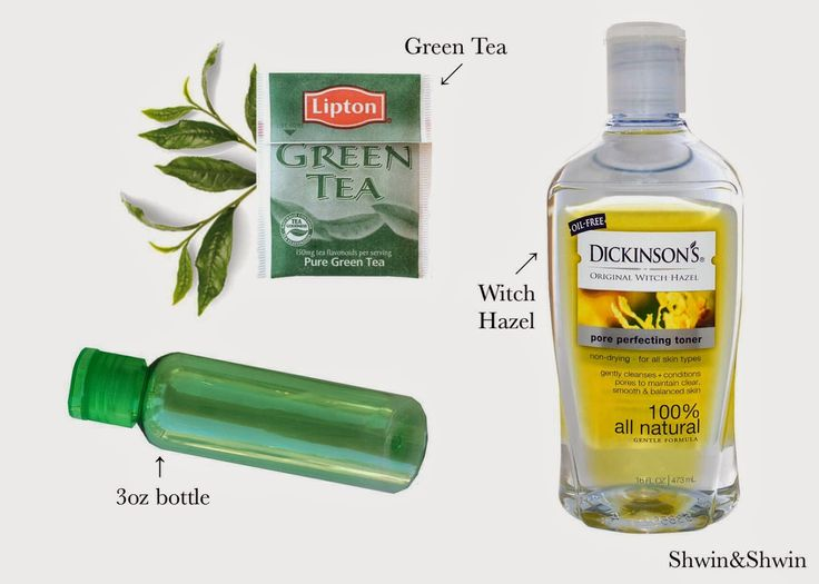 DIY Green Tea Toner - Shwin and Shwin