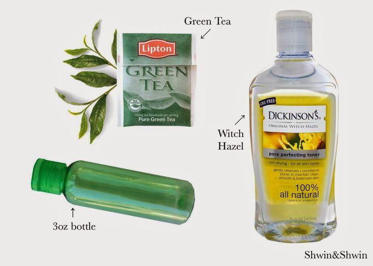 DIY Green Tea Toner - Shwin and Shwin