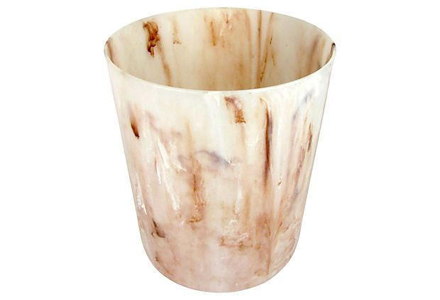 Faux Horn Midcentury Waste Basket by Ruby + George on @One Kings Lane