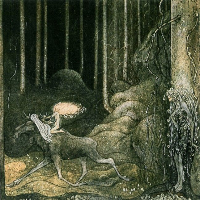 John tells us his own fairytale. Just as Carl Larsson gave us a domestic utopia, John Bauer has created an idealised image of the forest – a dream we carry within us. - This is an EXCELLENT page about this artist!!!