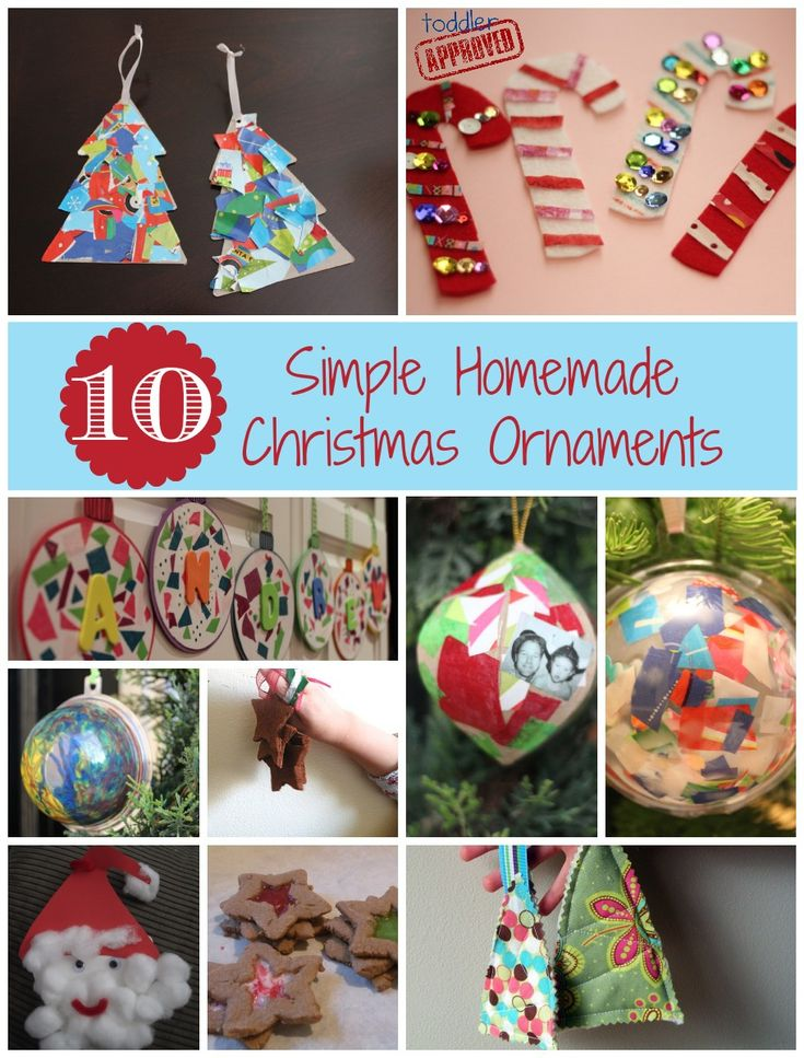 10 Simple Homemade Christmas Ornaments 30 best
