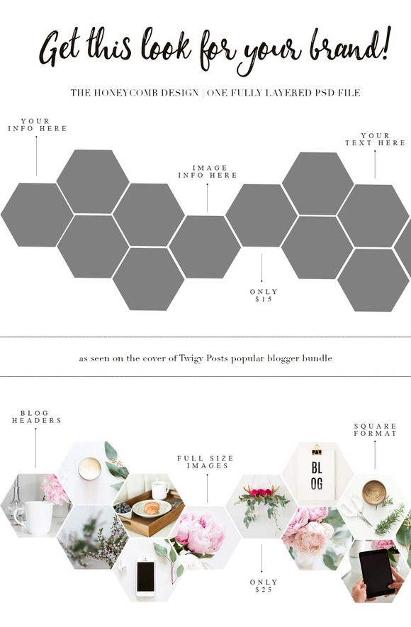 Honeycomb PSD Template by TwigyPosts on @creativemarket
