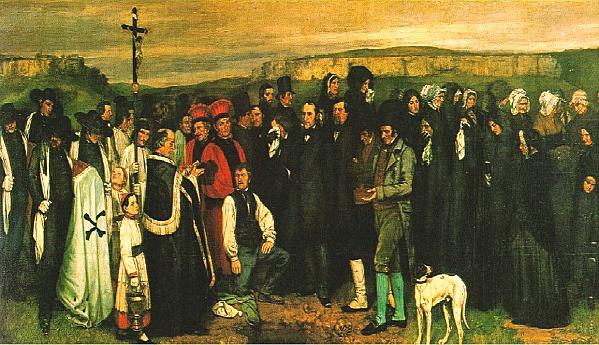 Un enterrement à Ornans, Gustave Courbet, 1849