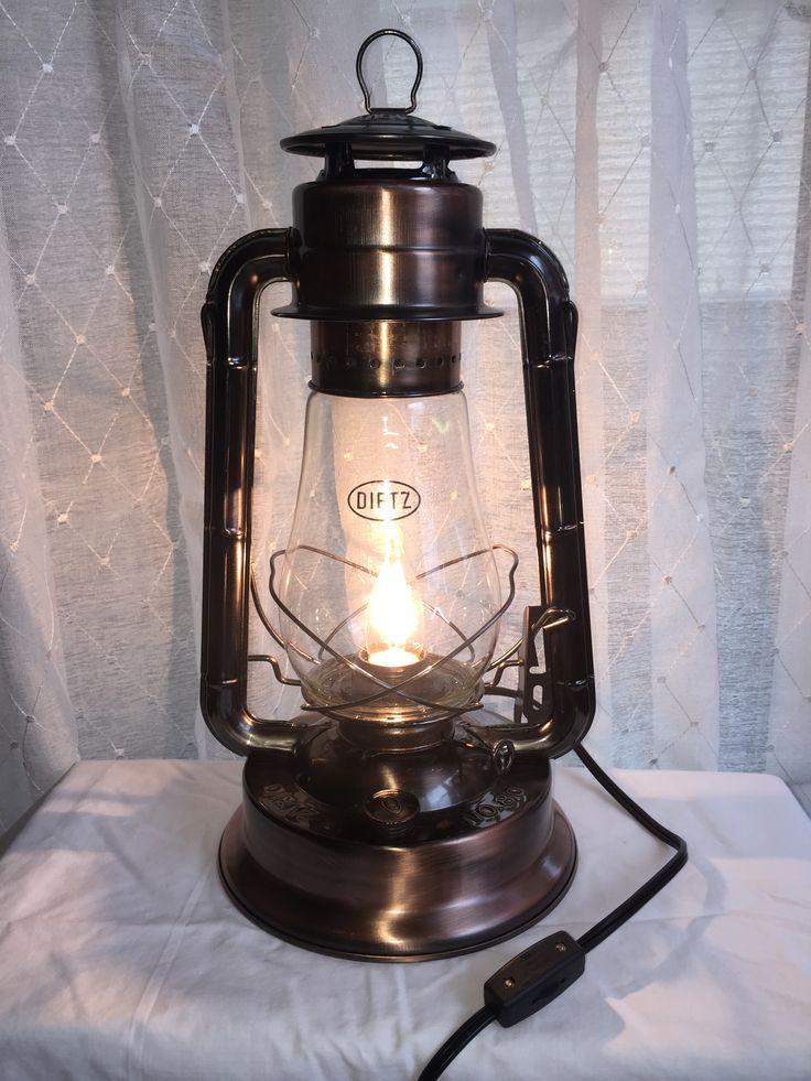 Electric Dietz Blizzard Lantern (Copper Bronze) Table Lamp By Big Rock  Lanterns.