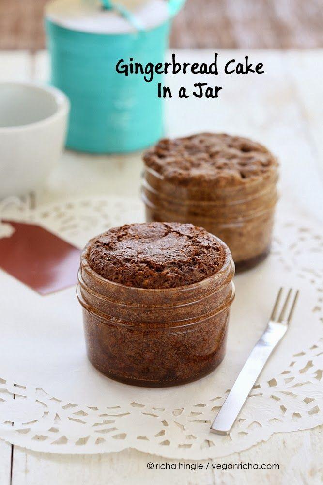 Gingerbread Cake Mix In a Jar for 1. Store, mix, and bake in the same jar!  Glutenfree Vegan Recipe - Vegan Richa