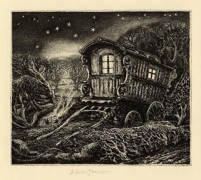 "Robin Tanner, ""The Plough"" (1973) …..IS THIS A GYPSY CARAVAN ?? ……………ccp"