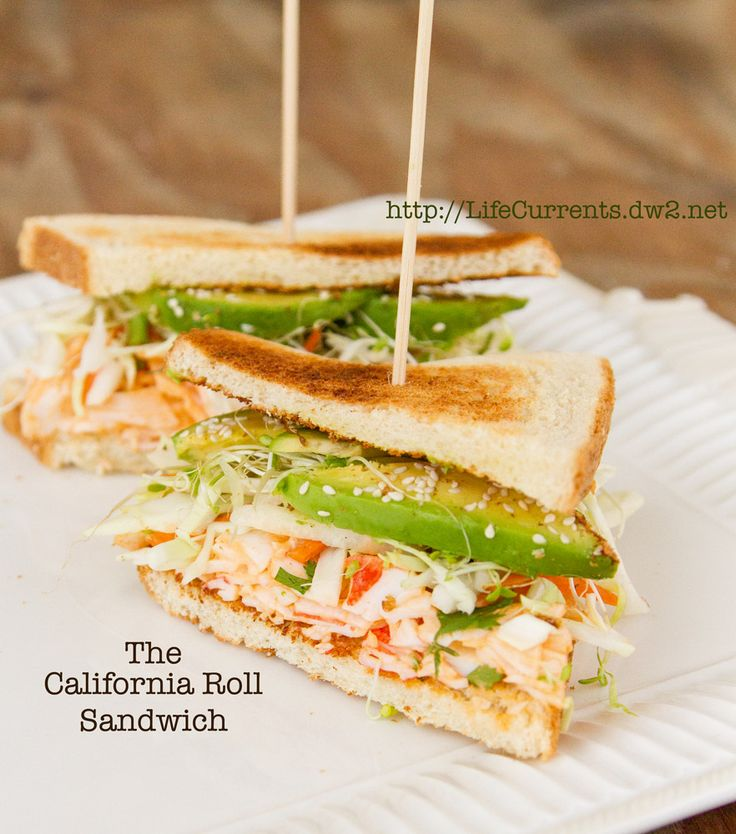 California Roll Sandwich | Life Currents