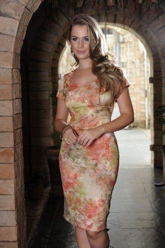 moda evangelica Vestido com renda estampada 2013