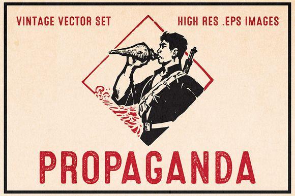 Propaganda - Vintage Vector Set by The Rusty Press on Creative Market