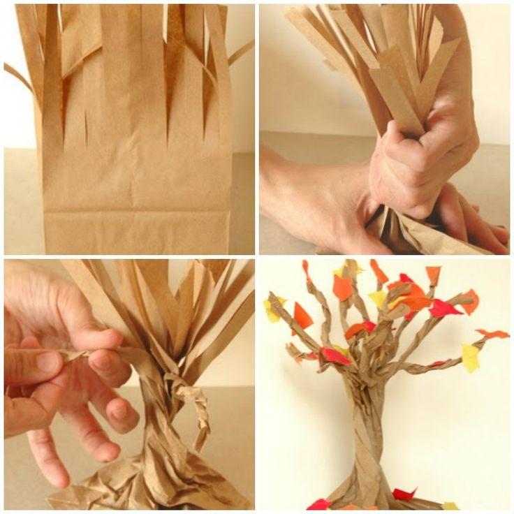 DIY arbol de bolsa para fiesta de juego de tronos