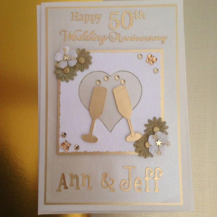 golden wedding anniversary card  cards  pinterest